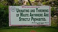 funny but serious sign in Loboc Philippines